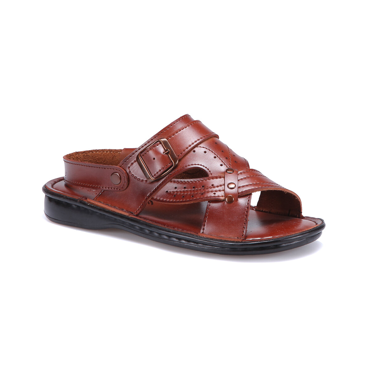 FLO 45 M 1625 Tan Male Sandals Flexall