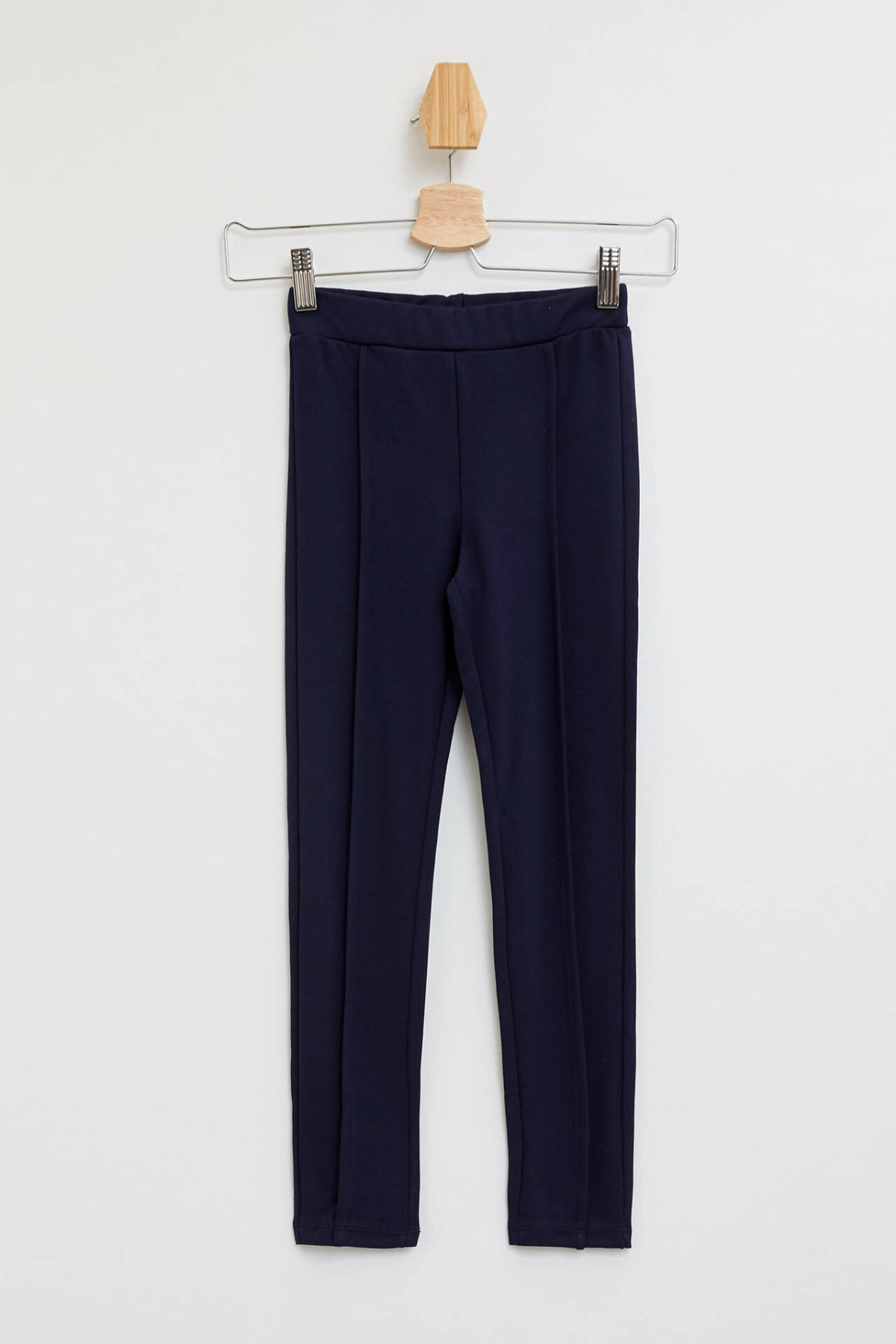 DeFacto Girl Autumn Elastic Solid Color Long Pants Girls Casual Black Navy Blue Leggings Kids Legging Bottoms-H9614A619AU