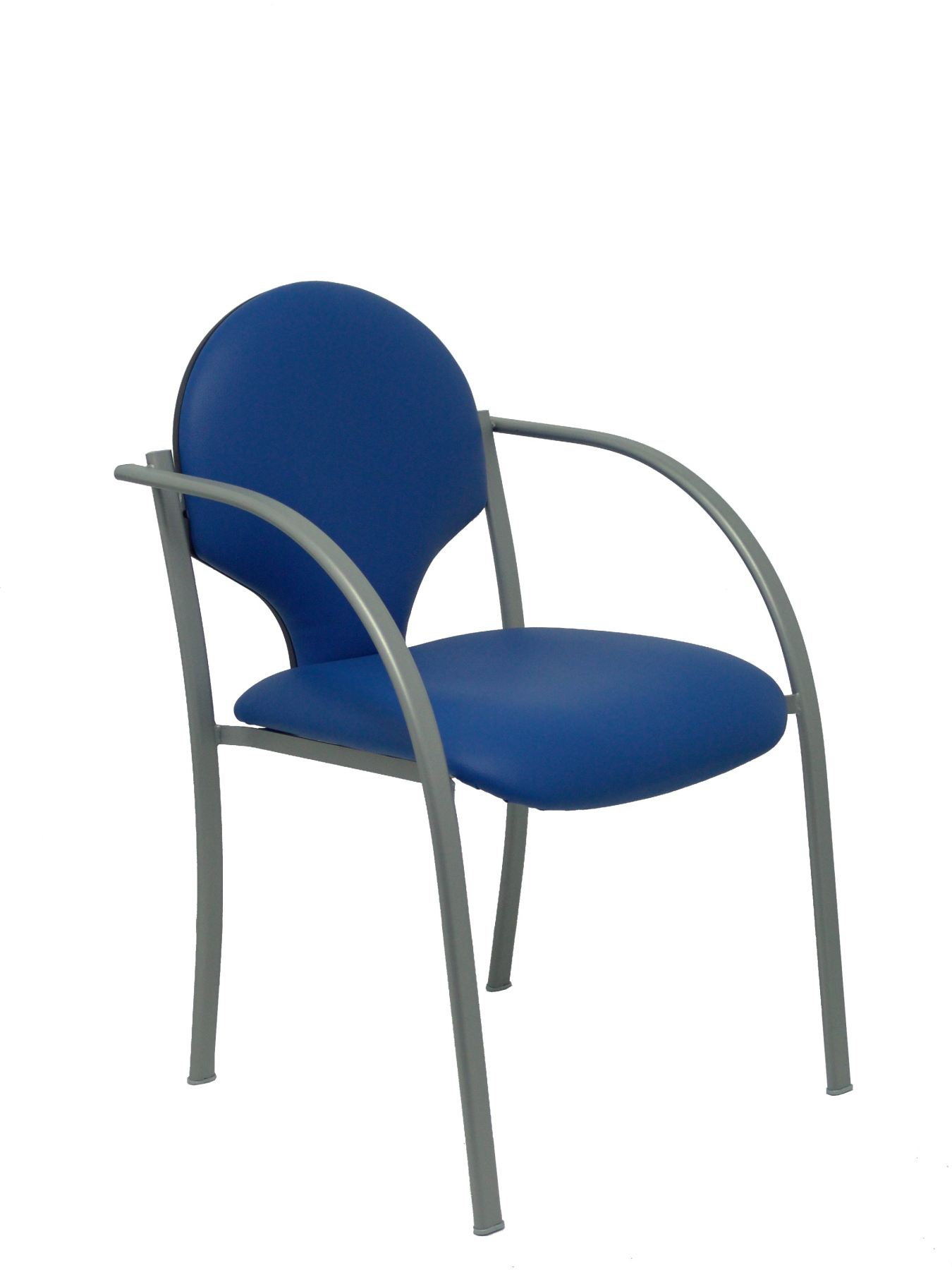 2 Pack Confident Chairs Ergonomics Fixed Arms Built-in Stackable, Seat And Backrest Cushion Piqueras And