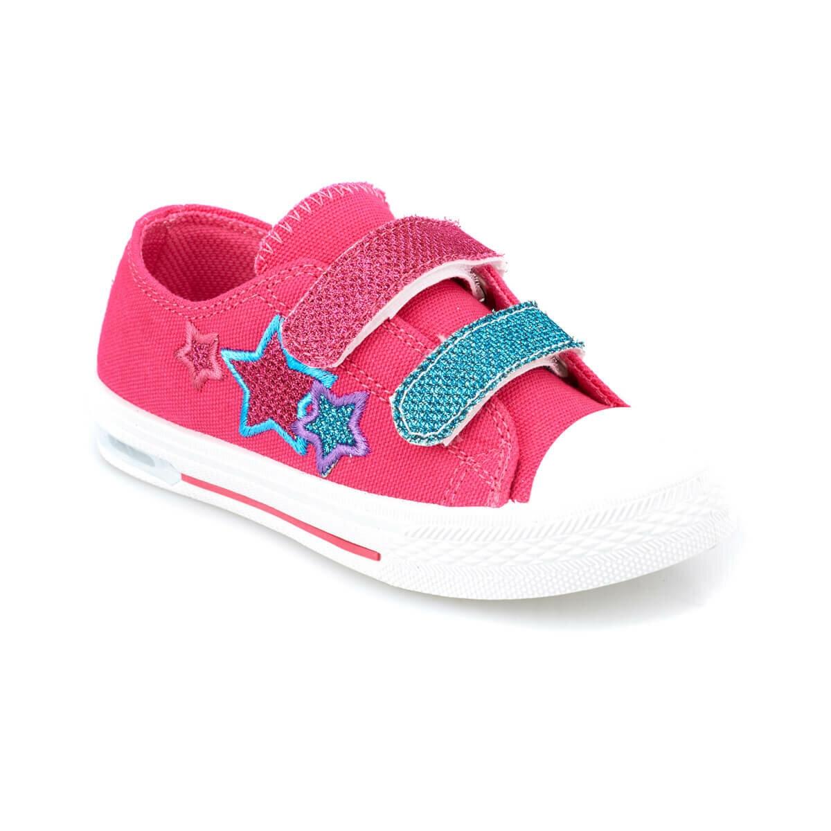 FLO DERY Neon Pink Female Child Sneaker Shoes KINETIX