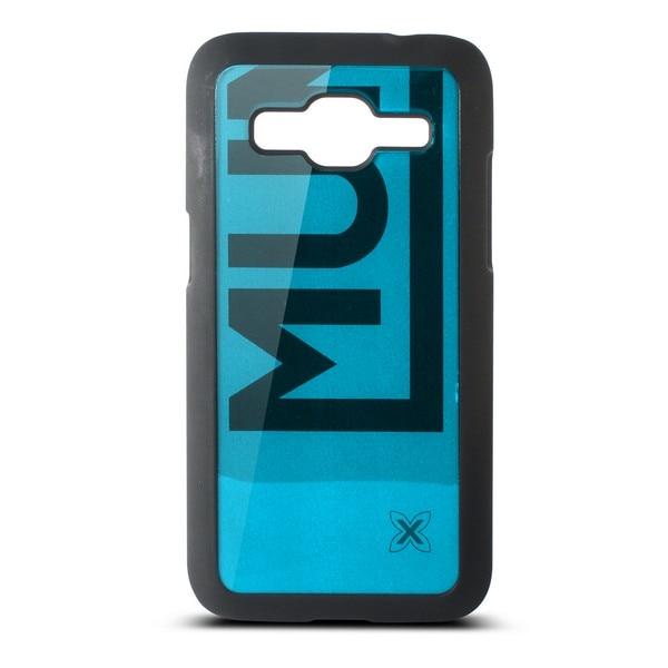 Funda para Móvil Samsung Galaxy Core Munich Color Line Policarbonato Negro Azul