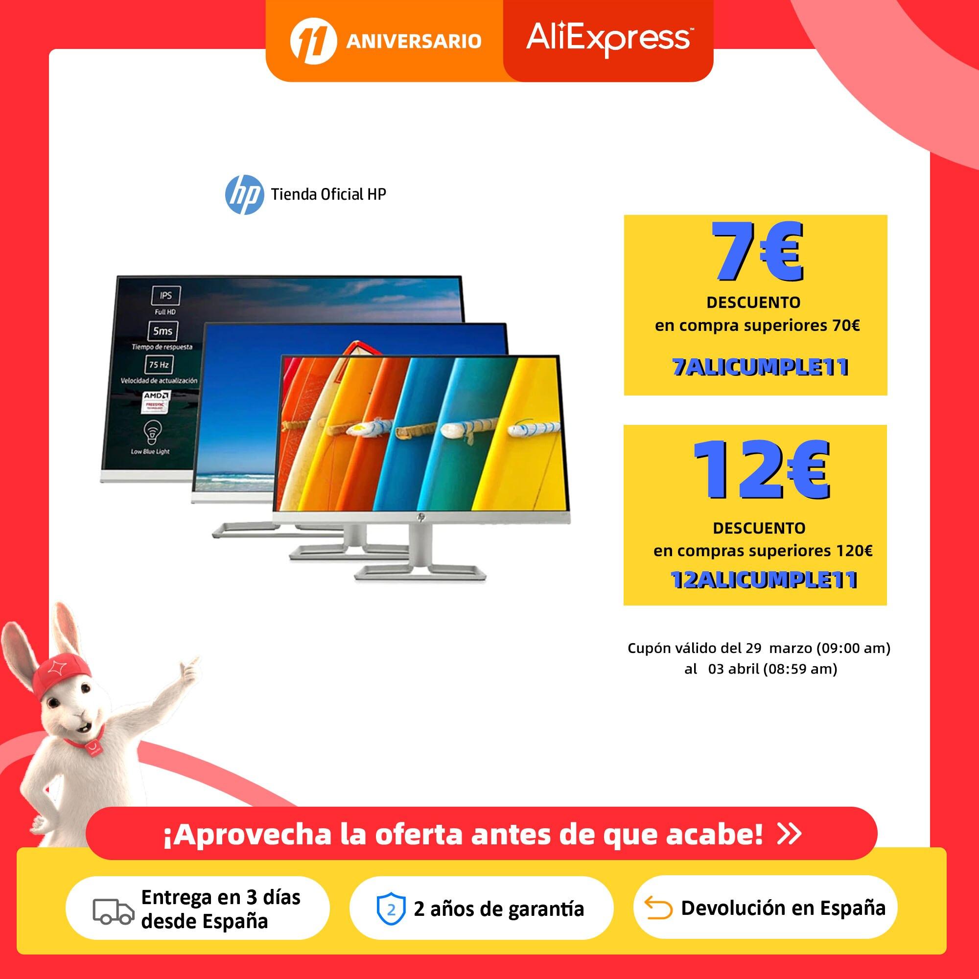 "Monitor HP 22f (2XN58AA) 21,5''/HP 24f (2XN60AA) 23,8""/HP 27f (2XN62AA) 27"", pantalla de 1080p FHD, IPS, color plata Monitores LCD  - AliExpress"