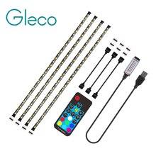 Светодиодная лента 2019 с питанием от USB, 5050, RGBW, RGBWW, Радиочастотный пульт дистанционного управления, 50 см, 1 м, 2 м, 3 м, 4 м для ПК, ТВ, подсветильник ка, гибкий светильник, 5 в постоянного тока