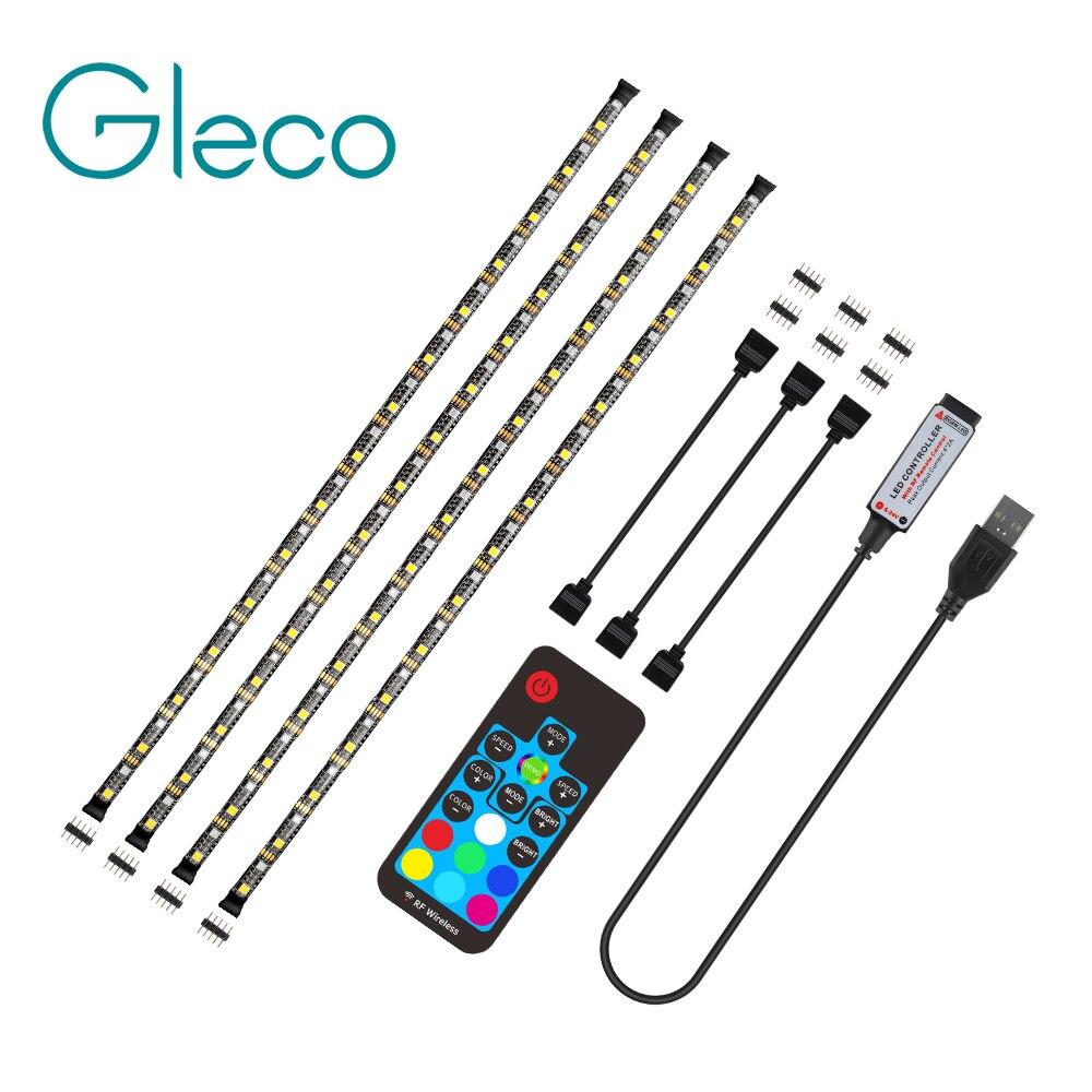 2019 USB LED Strip Light 5050 RGBW RGBWW RF Remote Controller 50CM 1M 2M 3M 4M For PC TV Background Lighting Flexible Light DC5V