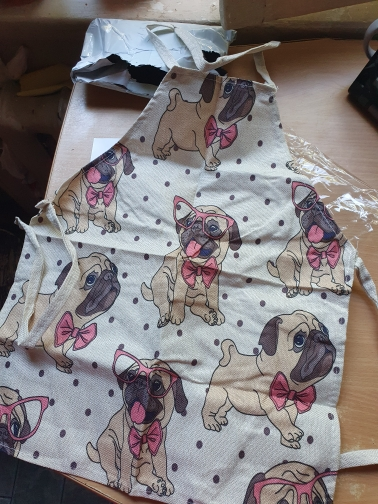 Bull Dog Print Kitchen Apron photo review