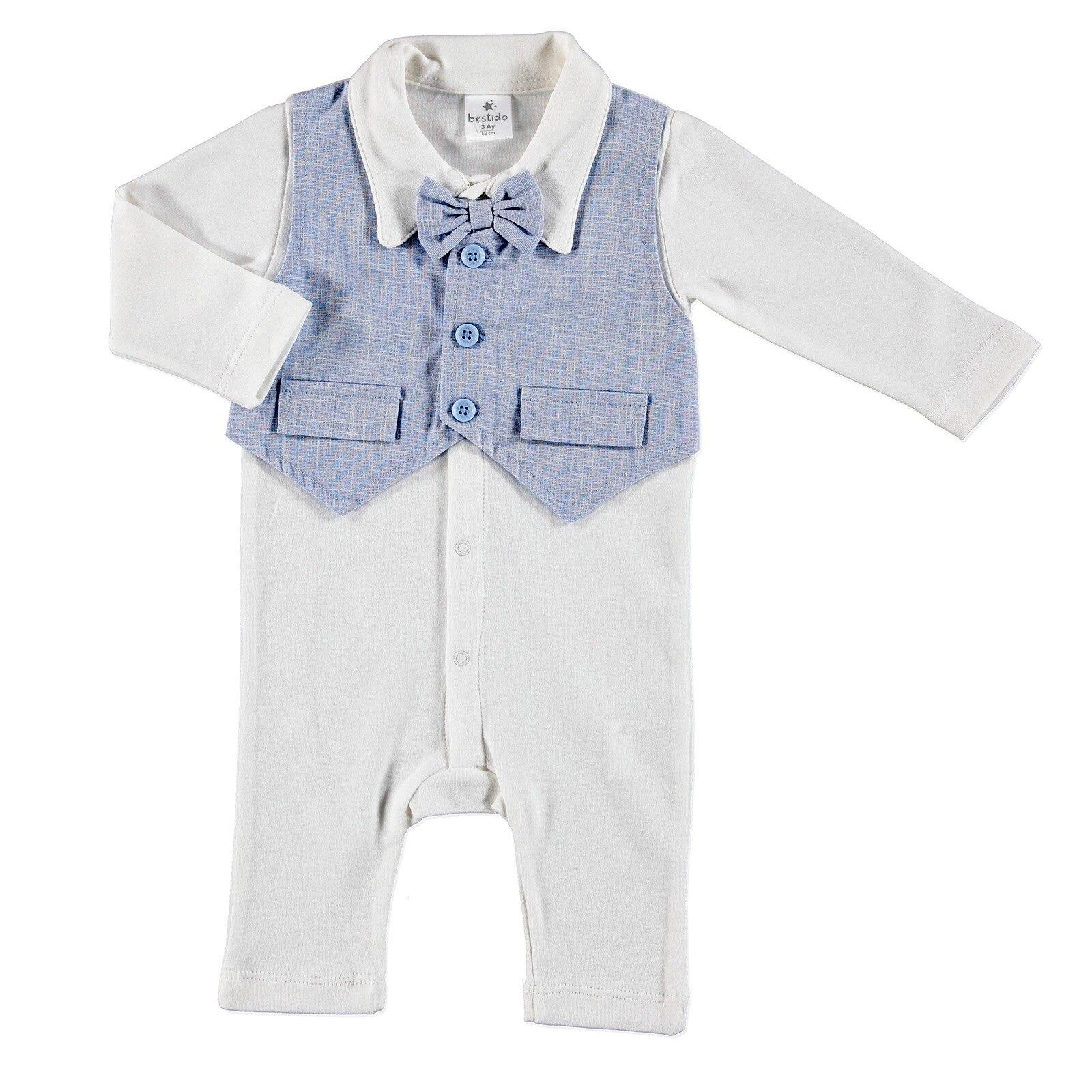 Ebebek Bestido Baby Boy Special Day Bowtie Romper Hat 2 Pcs Set