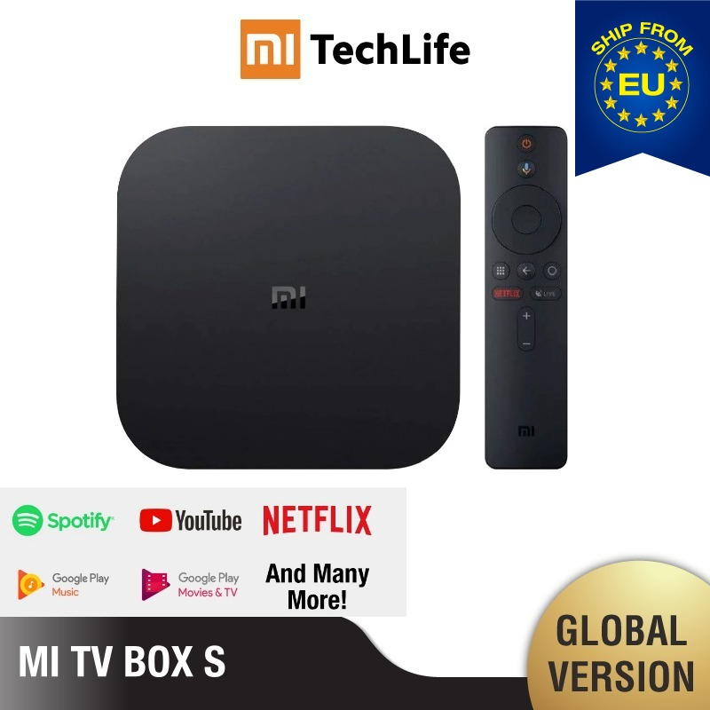 (EU VERSION) Mi <font><b>TV</b></font> Box S (Marke Neue, smart <font><b>android</b></font> <font><b>tv</b></font> Box 4K HDR <font><b>Android</b></font> 8,1 2G 8G WIFI, Google Cast Netflix) image