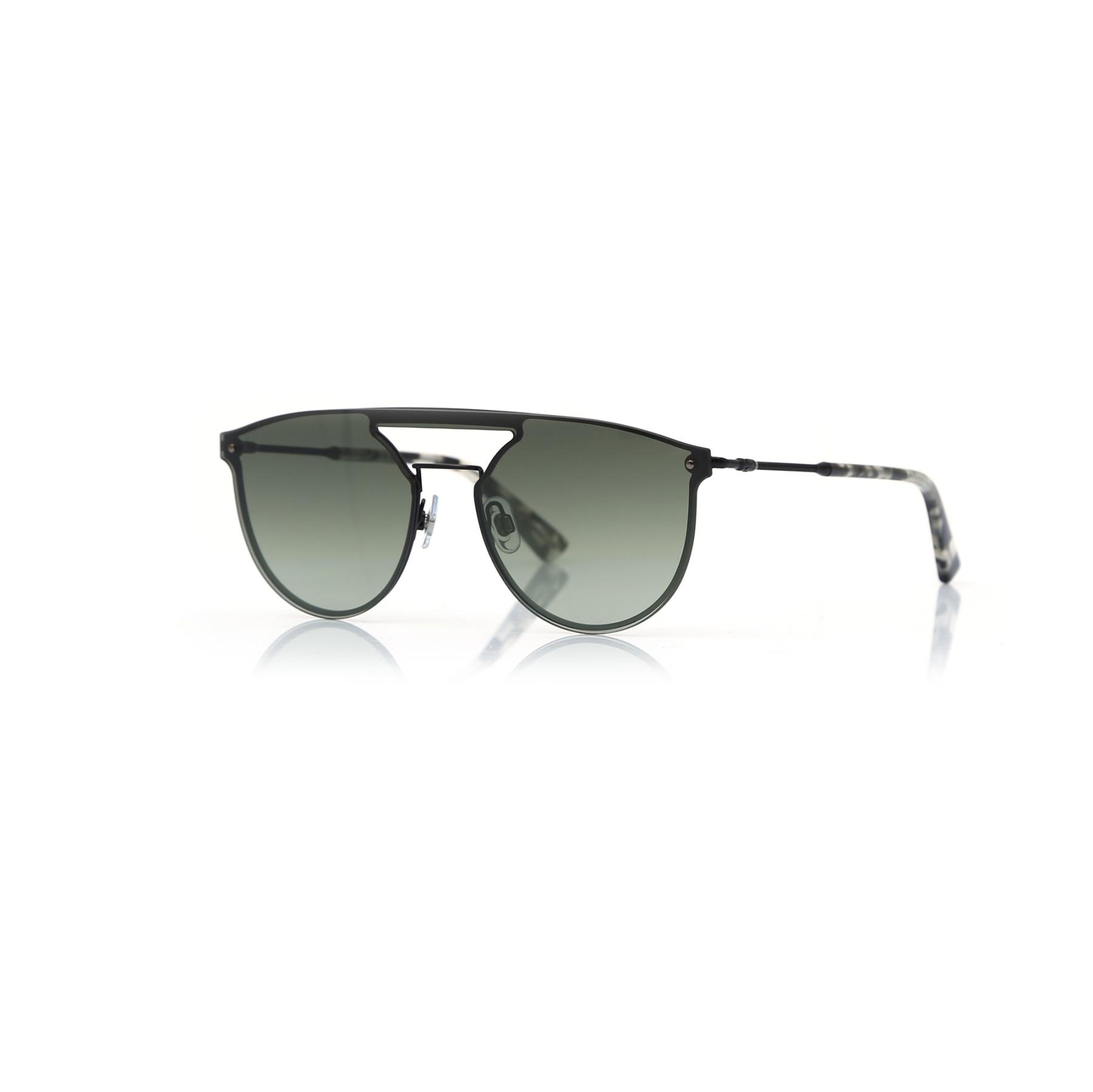 Unisex sunglasses w 0193 02q metal black polycarbonate oval aval 54-16-140 web