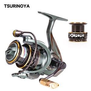 Tsurinoya 2 carretel de pesca fiação jaguar 1000 2000 3000 9 + 1bb 6kg max carbono arraste carpa carretel de água salgada bass pike roda