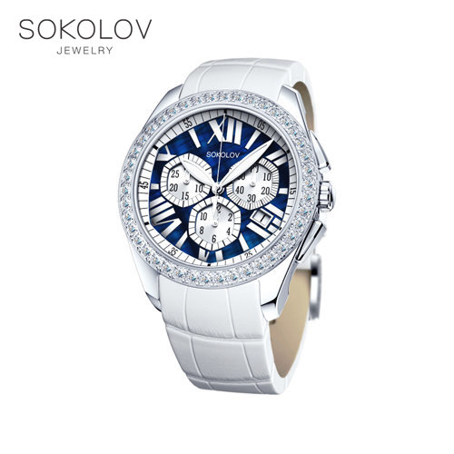 Women's Silver SOKOLOV Watch Fashion Jewelry 925 Women's Male