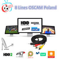 Cccam Europa for 1 year Spain Italy Portugal For V8 Super DVB-S2 Satellite Receiver 8line for 1 year Europe Oscam Europea Server
