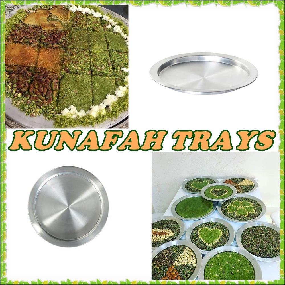 HUGE SIZE: 40 Cm / Made In Turkey Best Quality Kunafa Konafa Knafeh Kunafah Kunefe Aluminum Tray Plate Pan WORLDWIDE SHIPPING