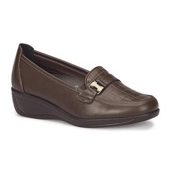 FLO 72 110007 Z Brown damskie wygodne buty Polaris 5 Point tanie i dobre opinie Polaris 5 Nokta Trzciny