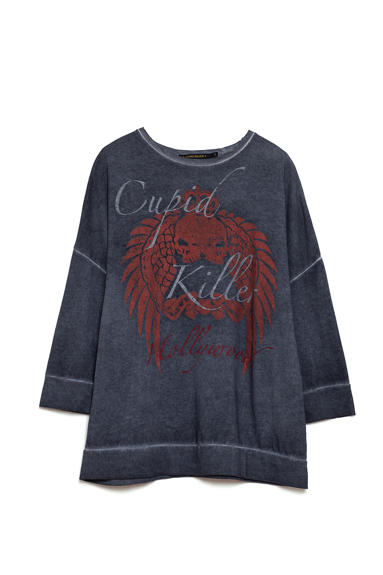 CUPIDO KILLER COLLECTION HOLLYWOOD T shirt met Mouwen Kleur Lange Grafit voor Vrouwen CK000083