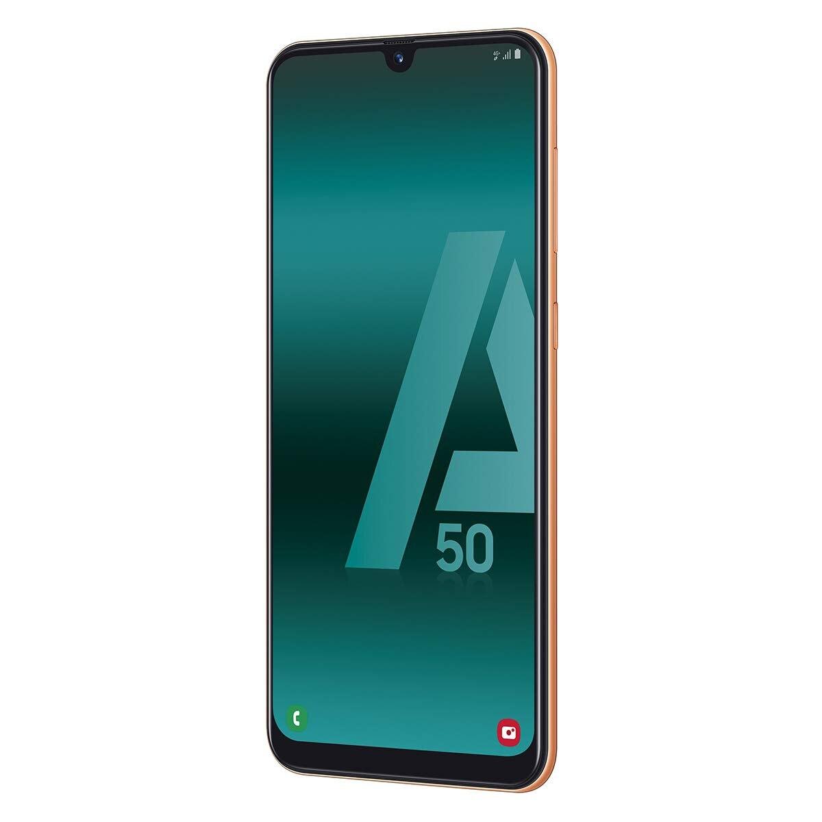 Samsung Galaxy A50, Coral Color, Dual SIM, 128 GB Rom, 4GB Ram, Screen 6.4