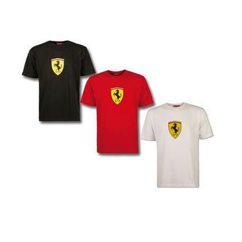 T-shirt man Scudetto Ferrari black size L
