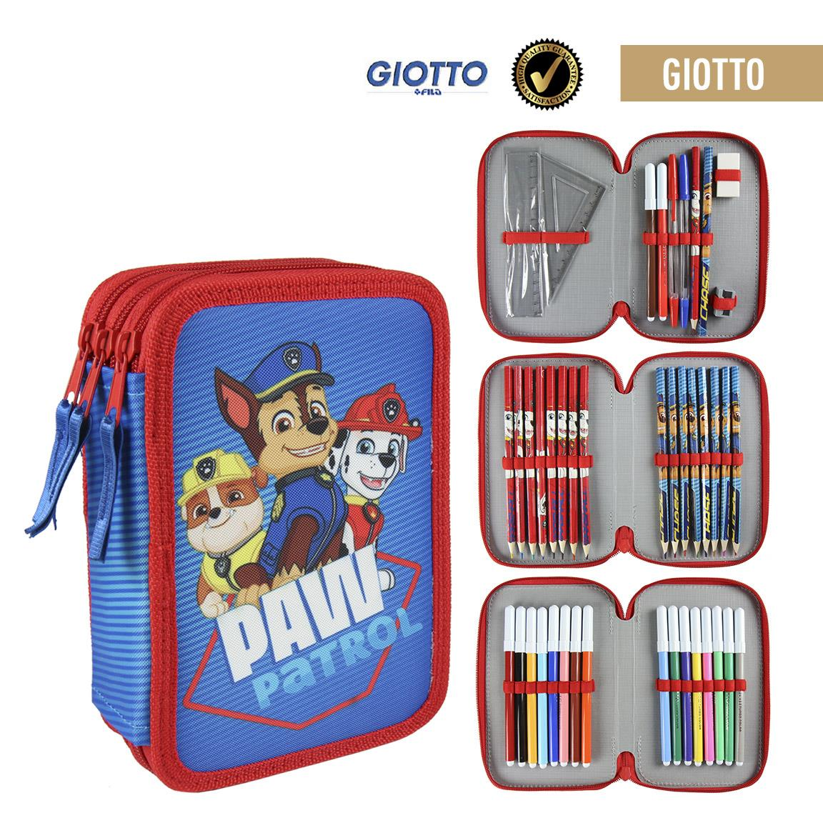 Plumier Threefold Giotto Paw Patrol OFFICIALLY LICENSED ORIGINAL Material Approved EU