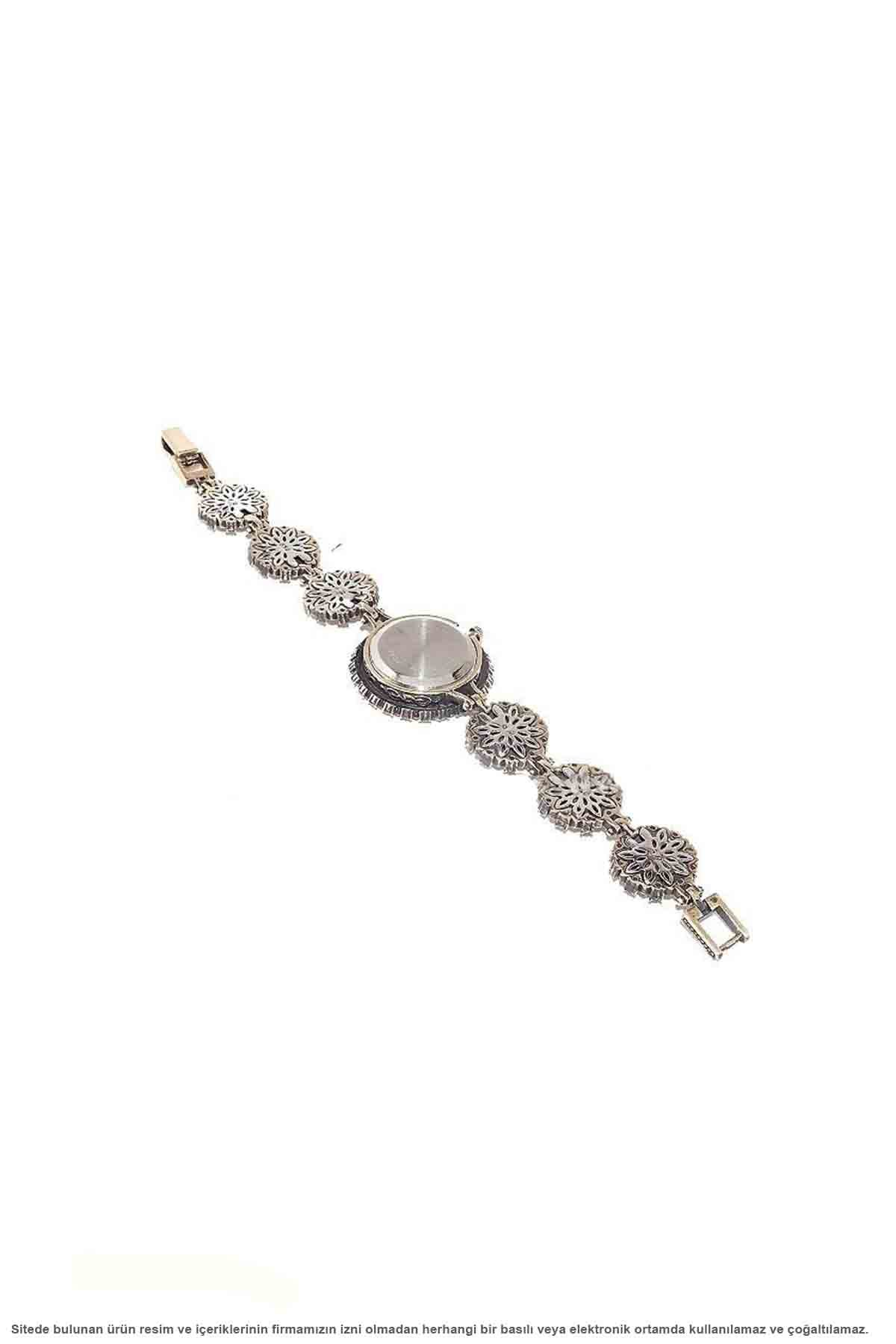 Silver Natural Gemstone Authentic Lady Wrist watch
