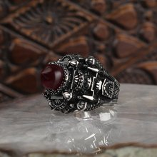 925 sterling silver men ring real stone Jewelry fashion vintage Gift all size fa