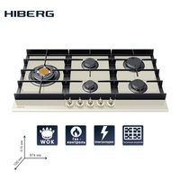 Built in Hob gas HIBERG VM 9055 RY Home Appliances Major Appliances gas cooking Surface hob cookers cooking unit