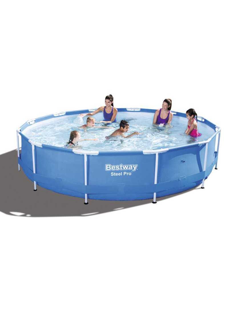 Scaffold Round Swimming Pool Outdoor Summer 366 х76 Cm, 6473 L, Bestway, Blue, Item No. 56415/56030