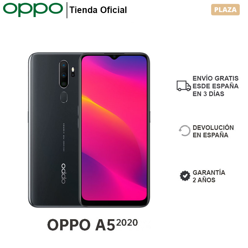 "OPPO A5 2020 3GB/64GB, Smartphone, Pantalla 6.5"" HD, 4 Cámaras Traseras, 5000 mAh, Dual SIM, Carga Reversible, Garantía 2 Años Teléfonos móviles  - AliExpress"