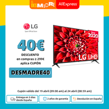 Television LG 43UN73006LC 55UN7100 43 y 55 Pulgadas Smart TV 4K UHD Panel IPS Quad Core 10 bits, HDR 10, Plaza