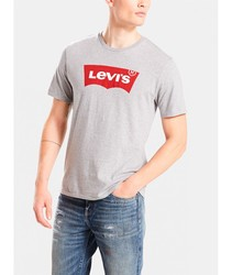 T-SHIRT LEVIS BASIC Ts gray color short sleeve BRANDED for men Clothing male