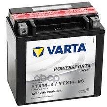 Аккумулятор Powersports Agm 12v 12ah 200a 152х88х147 Полярность 1 Клеммы Y5 Крепление B00 Varta арт. 512014010