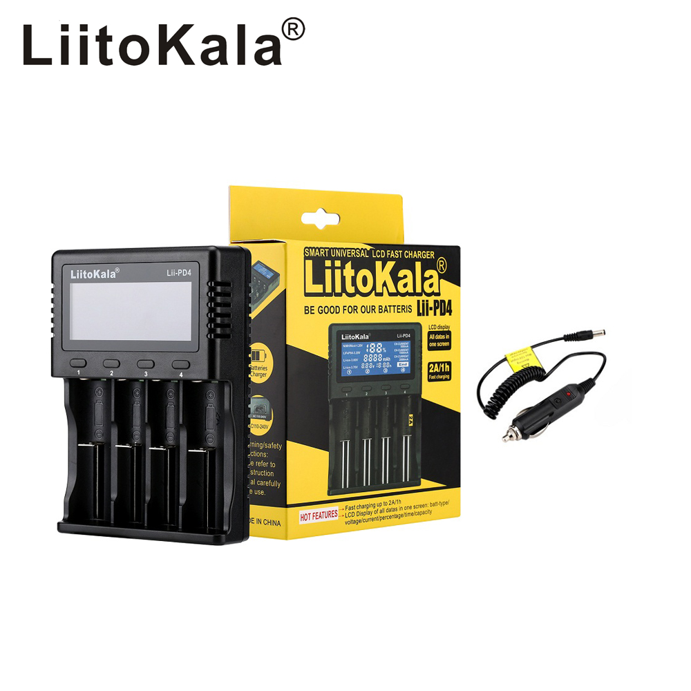 2020 Liitokala Lii-PD2 Lii-PD4 LCD 3.7V 18650 18350 18500 21700 20700 14500 26650 AA NiMH Lithium-battery Charger
