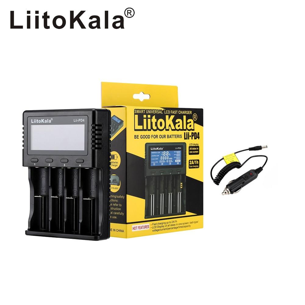 2020 Liitokala Lii-PD2 Lii-PD4 LCD 3.7V 18650 18350 18500 21700 20700 14500 26650 AA NiMH Lithium-battery Charger
