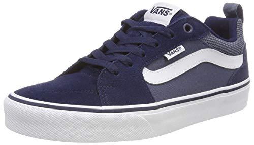 Vans Filmore, men's sneakers Blue (Suede Canvas) Dress Blues ...