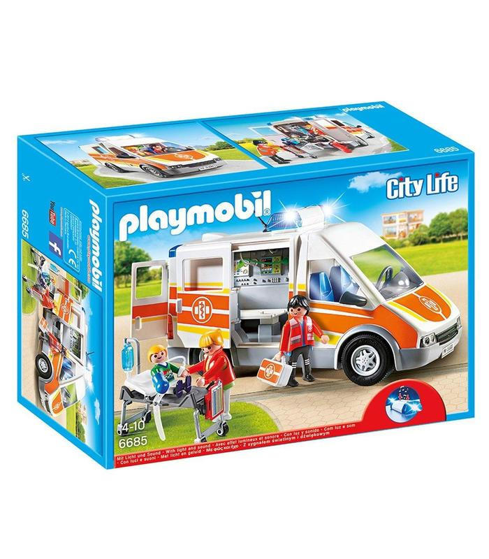 Playmobil 6685 Ambulance With Lights And Sound Toy Store