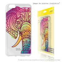 FunnyTech®Silicone Case for OnePlus 7 Pro L Design transparent Elephant vers.1