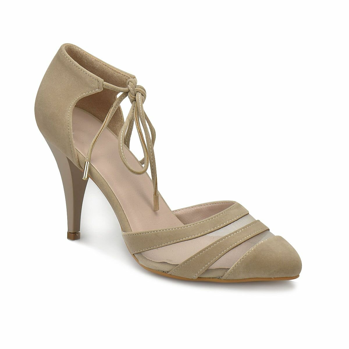 FLO DS18042 Beige Women Dress Shoes Miss F