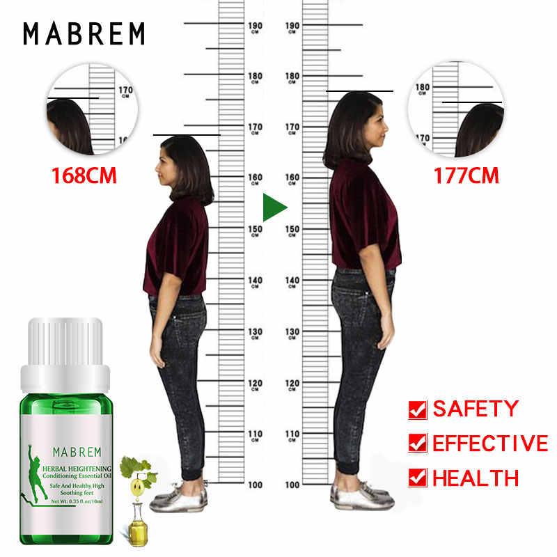 Mabrem aumento da altura óleo condicionado corpo crescer mais alto óleos essenciais ervais calmante pé promover o crescimento do osso massagem oil10ml