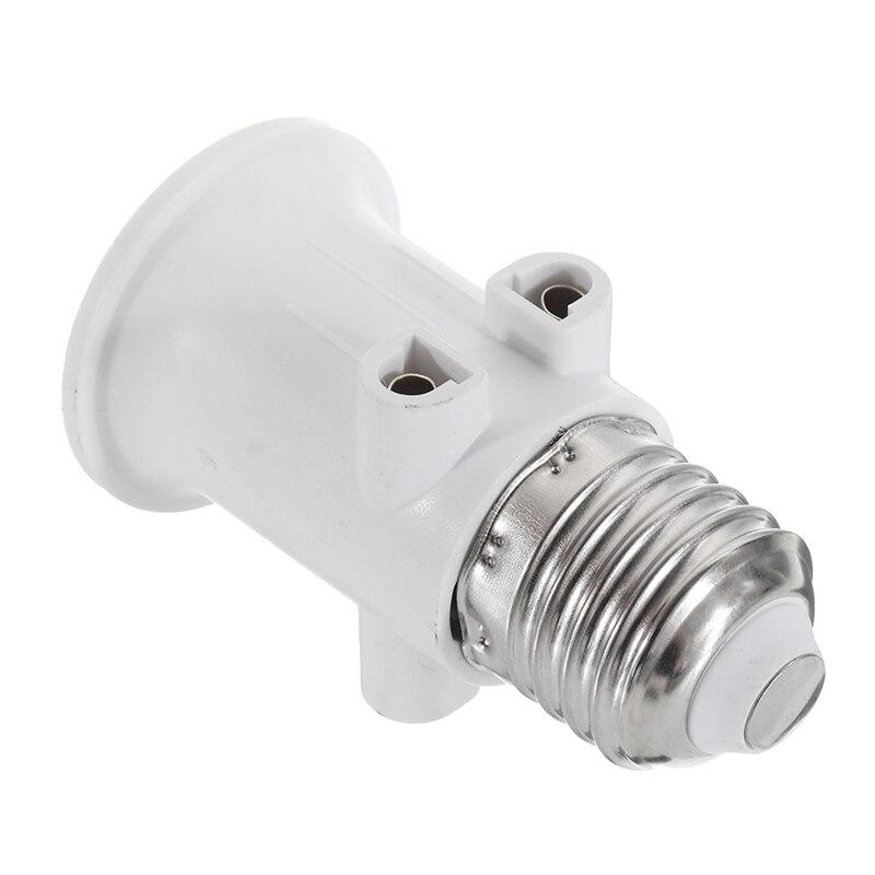 AC100-240V 4A E27 ABS EU Plug Connector Accessories LED Bulb Adapter Lamp Holder Base Screw Light Socket Conversion For Lights