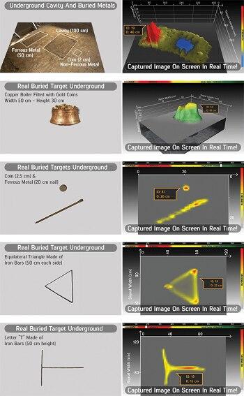إنفينيو القياسية المهنية البحث شاشة الكريستال السائل حساسية عالية عالية عمق الكنز هنتر الذهب تحت الأرض للكشف عن المعادن 5