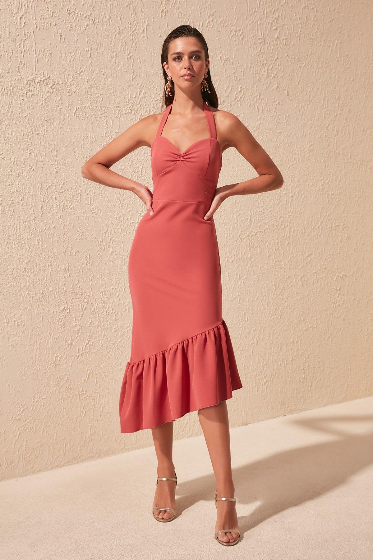 Trendyol Lacing Detail Dress TPRSS20EL1438