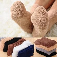 Winter Warm Fluffy Socks In Women's Socks Cute Soft Elastic Coral Velvet Socks Indoor Floor Towel Socks Breathable Pure Colors