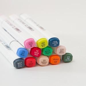 Image 4 - 30 40 60 80 168 色 Touchfnew マーカーブラシペン絵画永久マーカーためスケッチデュアルブラシ先端オイルベースのペン
