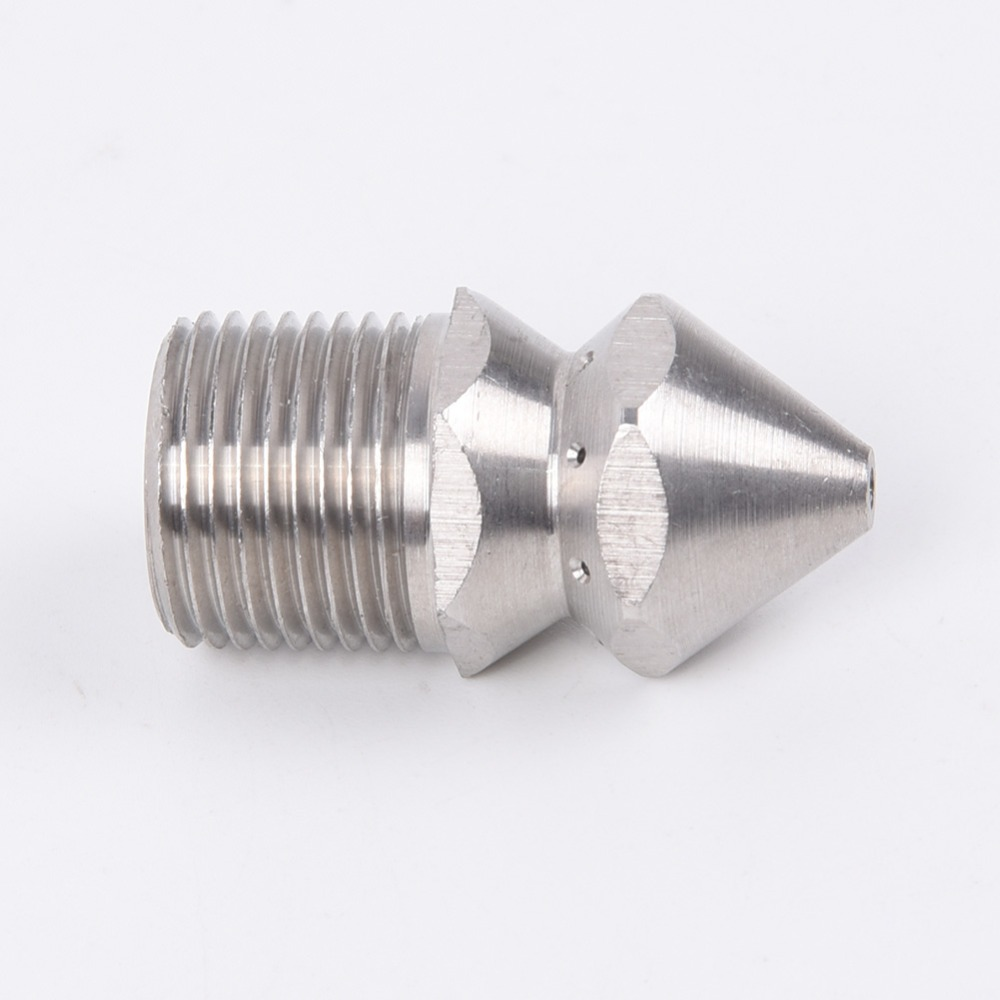 U9e8694ee3fd948eeaaf6475bf03a756b9 1/4'' 3/8 '' Cleaning Nozzle Pressure Washer Drain Sewer Cleaning Pipe Jetter Spray Nozzle 4 Jet Garden Accessories Tools