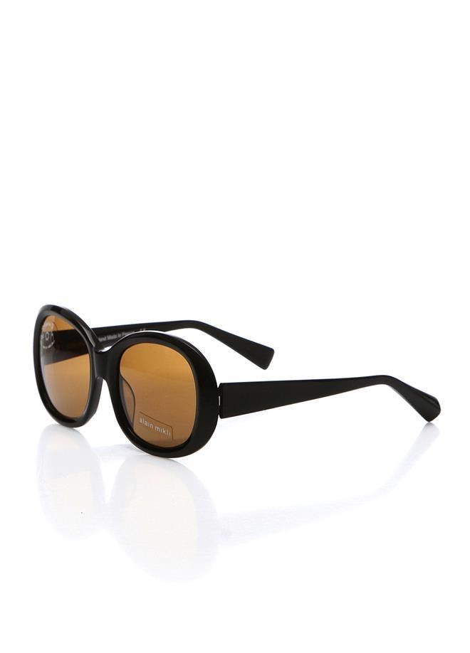 Women's sunglasses a 1168 0101 2120 bone black crystal oval aval 53-19-135 alain mikli