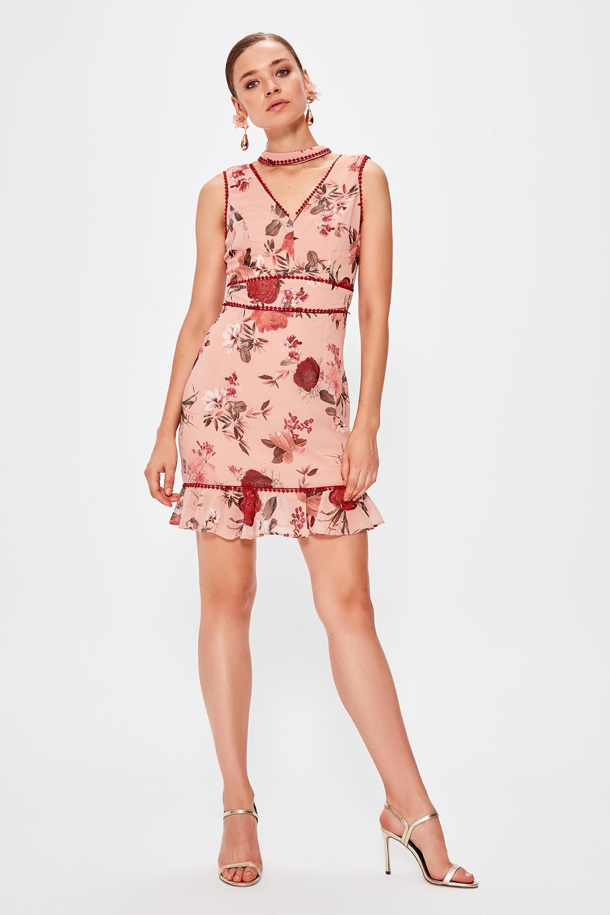 Trendyol Patterned Dress TPRSS19UT0172