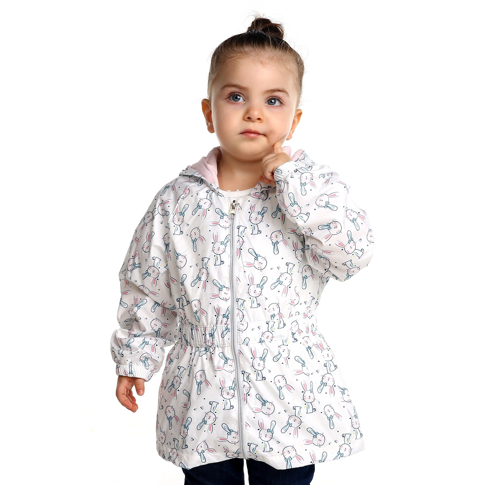 Ebebek Bombili Summer Baby Girl Rabbit Rain Coat