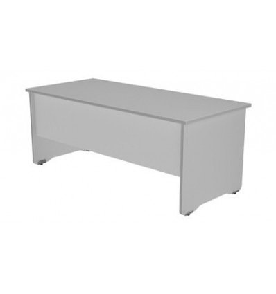 OFFICE TABLE SERIALS WORK 200X80 ALUMINUM/GRAY