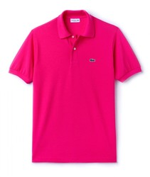 LACOSTE POLO L.12.12 BASIC poloshirts fashion short sleeve color rose fuchsia BRand Crocodile for men