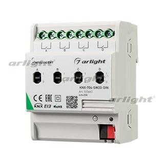 025663 Intelligent Arlight Relay Module Knx-704-sw20-din (bus, 4x20a) Arlight Box 1-piece