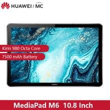"Code:GALKINBIKUPIL HUAWEI MediaPad M6 10,8 ""Kirin 980 Восьмиядерный Android 9,0 планшет Type C 7500mAh 2560x1600 отпечатков пальцев IPS экран"