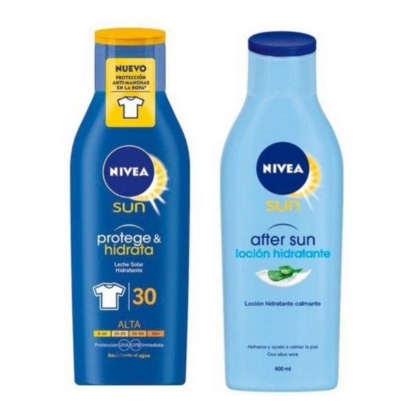 Sun Protection Set Protege & Hidrata Nivea (2 Pcs)